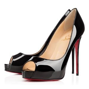 New Christian Louboutin Very Prive Black Patent 36